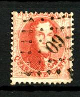BELGIQUE - YT 16A - 40c Rouge Léopold 1er - Dentelé 12,5 X 12,5 - Oblitéré - Très Beau - 1863-1864 Medallions (13/16)