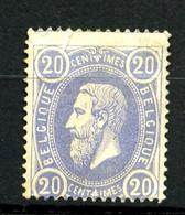 BELGIQUE - YT 31 - 20c Bleu Léopold II - Neuf Sans Gomme - Petit Défaut En Partie Haute. - 1869-1883 Leopoldo II