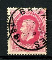 BELGIQUE - YT 34a - 40c Rose Carminé Léopold II - Oblitéré - Très Beau - 1869-1883 Leopoldo II