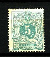 BELGIQUE - YT 45 - 5c Vert-jaune Lion Couché - Neuf Sans Gomme - Très Beau - 1869-1888 Leone Coricato
