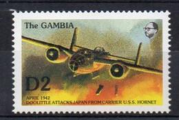 WWII 1942 North American B-25 Mitchell DOOLITTLE RAID - (Gambia 1992) MNH (2W0390) - WW2