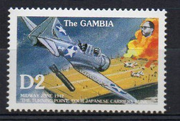 WWII 1942 Battle Of MIDWAY - (Gambia 1992) MNH (2W0391) - WW2