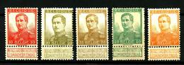 BELGIQUE - Entre YT  111 Et 116 - 5 Valeurs - Neufs N** Et N* - Très Beaux - 1912 Pellens