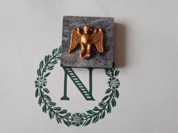 Petit Presse Papier Aigle Premier Empire Sur Grès & - Briefbeschwerer