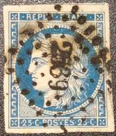 Cérès N° 4 Avec Oblitération Losange Centrale 2589 Avec Voisin  TTB - 1849-1850 Ceres