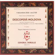 Moldova , Moldavie , Chisinau ,  The  Ticket ,  The National Palace , 2016 , Used - Tickets - Vouchers