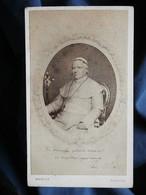 Photo CDV Morley à Taunton  Portrait Pape Pie IX Assis  CA 1865-70 - L537 - Antiche (ante 1900)