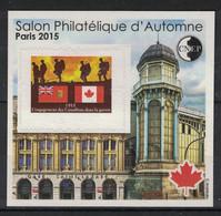 France - Bloc CNEP - Yvert 69 - Salon D'Automne Paris 2015 - Canada, Guerre - CNEP
