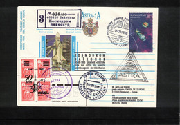 Kazakhstan 1998 Space / Raumfahrt Kosmodrom Bajkonur ASTRA - 2A Interesting Registered Letter - Asia