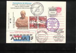 Kazakhstan 1996 Space / Raumfahrt Kosmodrom Bajkonur ASTRA 1F Interesting Registered Letter - Asia