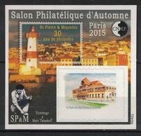 France - Bloc CNEP - Yvert 70 - Salon D'Automne Paris 2015 - Saint-Pierre Et Miquelon - CNEP