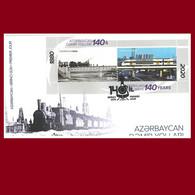 140th Anniversary Of Azerbaijan Railways. Azerbaijan 2020. Azermarka FDC - Azerbaïdjan