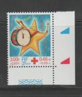 FRANCE / 1999 / Y&T N° 3288 ** : Croix-Rouge (Etoile Au Tambour) De Feuille X 1 CdF Inf D - Unused Stamps
