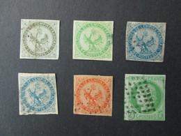FRANCE COLONIES FRANCAISES EMISSIONS GENERALES 6 Timbres Avec Défaut 1859- 1877 Aigle Impérial Et Cérès Timbre - Unclassified