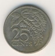 TRINIDAD & TOBAGO 2005: 25 Cents, KM 32 - Trinidad & Tobago