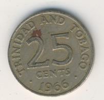 TRINIDAD & TOBAGO 1966: 25 Cents, KM 4 - Trinidad & Tobago