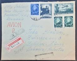ROMANIA 1949 - Registered Letter From Bucarest To Zollikon-Zürich/Switzerland - Cartas