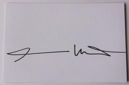 Herman NITSCH - Dédicace - Hand Signed - Autographe Authentique - Entertainers
