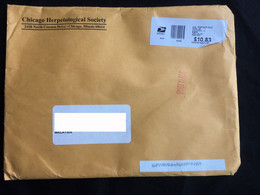 USA Business Cover Chicago Herpetological Society USPS - Cartas