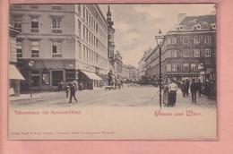 OLD POSTCARD AUSTRIA - OESTERREICH -     WIEN  - TABORSTRASSE 1900'S - ANIMATED - Sin Clasificación