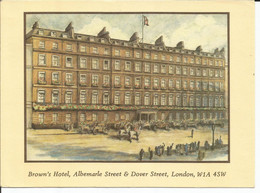 Postcard - 1991 - Brown's Hotel, Albemarle Street & Dover Street, London, England - Used - Posted To Ireland - Otros