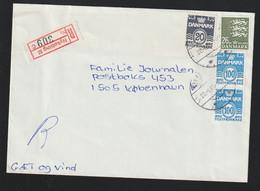 Denmark Registered Cover Posted Nykøbing M 1989 (G124-32) - Cartas