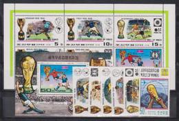 North Korea, World Cup, 1978, 6 Stamps + Sheetlet + Block - 1978 – Argentina
