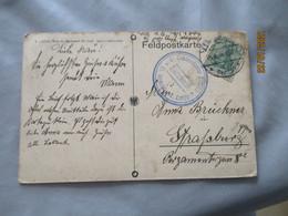Guerre 14.18 Occupation Allemagne Laon El Kommandantur 2  Felfpost Armee Allemande - 1. Weltkrieg 1914-1918