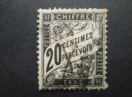FRANCE  Timbre Taxe Type DUVAL 20c 1881-1892 YT 17 - 1859-1955 Used