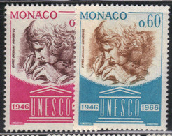 Monaco 1966 Yvert 700/01 Neufs** MNH (AE86) - Unused Stamps