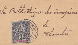TIMBRE 1 Centime Sur Bande Expédition Journal , Saïgon Central Cochinchine 1905, - Covers & Documents