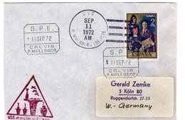 ESPANA 1972 S.P.E. CAL VIA P. MALLORCA U.S.S. - Franquicia Militar