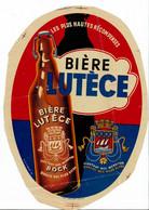 Ancienne étiquette Brasserie Nouvelle De Lutèce à Paris 75 - Bier