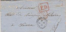 BRESIL  LETTRE POUR LA FRANCE  1863 - Briefe U. Dokumente