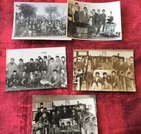 ✔️LYCÉE ENSEIGNEMENT TECHNIQUE OMAR à OUJDA MAROC 1959/60 Elèves-Professeurs-Formation-☛5 Photos Originale Photographie - Orte