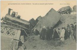 ALGERIE Catastrophe De L'Oued Eddous Vue Prise En Amont Après L'accident Train En Beau Plan Carte Rare - Other Cities