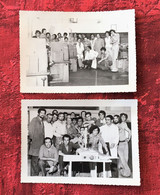 ✔️LYCÉE ENSEIGNEMENT TECHNIQUE OMAR à OUJDA MAROC 1974 Elèves-Professeurs-Formation-☛2 Photos Originale Photographie Cyr - Orte