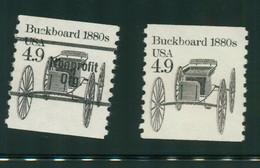 USA Scott # 2124 & 2124a 1985  American Transportation - 4.9¢Buckboard Bureau Precancelled Mint Never Hinged  (MNH) - Nuevos
