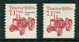 USA Scott # 2127  & 2127a  1987  American Transportation - 7.1¢Tractor  Mint Never Hinged  (MNH) - Nuevos