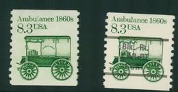 USA Scott # 2128 & 2128a   1985  American Transportation -8.3¢Ambulance Mint Never Hinged  (MNH) - Nuevos