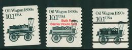 USA Scott # 2130, 2130_1 & 2130a 1985  American Transportation Coil - 10.1¢Oil Wagon Mint Never Hinged  (MNH) - Nuevos