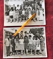 ✔️COLLEGE ZAINEB EN-NEFZAOUI à OUJDA MAROC 1964/65 Elèves-Professeurs--☛2 Photos Originale Photographie Scolaire - Orte