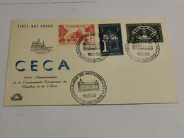 FDC, CECA 4e Anniversaire De La Communauté Européenne Du Charbon Et De L'acier 1956 - FDC