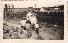 Kid On A Scooter - Photo 12x7.5 - Motorbikes
