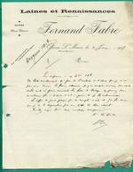 64 Oloron Sainte Marie Fernand Fabre Laines Et Renaissances 4 Juin 1907 - Kleding & Textiel