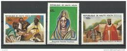 """Hte-Volta YT 522 à 524 """" Personnalités Histoire Nationale """" 1980 Neuf** - Alto Volta (1958-1984)"""