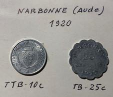 Monnaie De Nécessité - NARBONNE (AUDE) - 1920 - - Notgeld