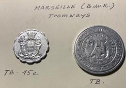 Monnaie De Nécessité - MARSEILLE (B Du R) Tramways - - Bonos