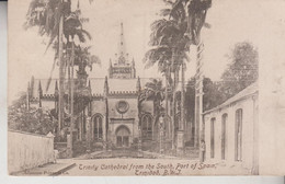 TRINITY CATHEDRAL FROM THE SOUTH PORT OF SPAIN TRINIDAD NICE STAMP 1906 - Trinidad