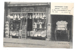 CPA 59 - LILLE - MAGASIN GEORGES CABY -RUE GAMBETTA - MENAGE ECLAIRAGE (REPAREE) - Lille